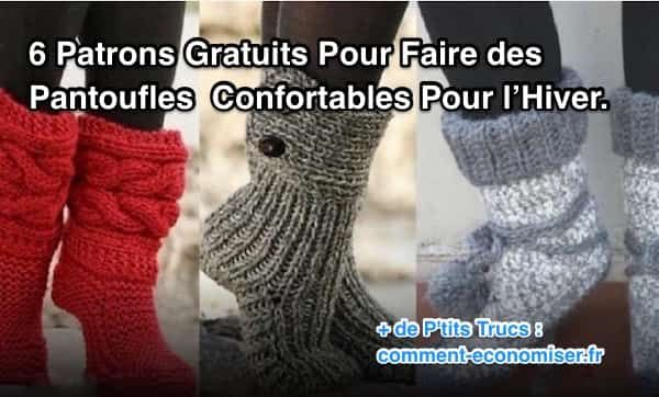 modèles gratuits pour faire des chaussettes et chaussons en laine au tricot et crochet