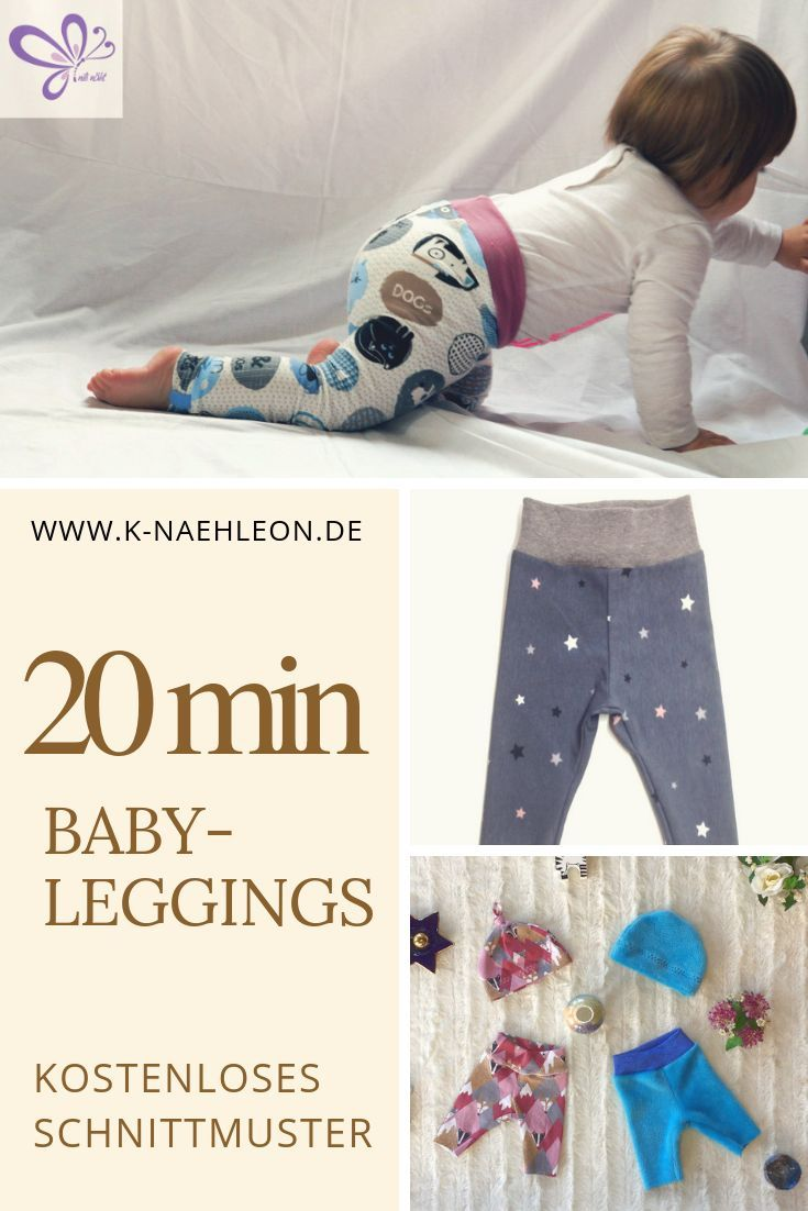 Simply sew for babies with the Freebook Leggings Luna. The free cut …   – Nähen
