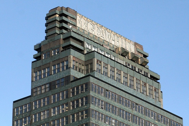 The McGraw-Hill Building, seen from West 39th Street, New York, New York. From Eating in Translation's photostream