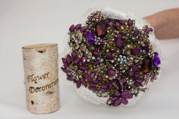 wedding bouquet brooch bouquet bridal bouquet by FlowerDecoration, $110.00