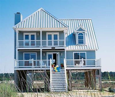 17 best images about houses on pilings on pinterest for Beach home plans on pilings