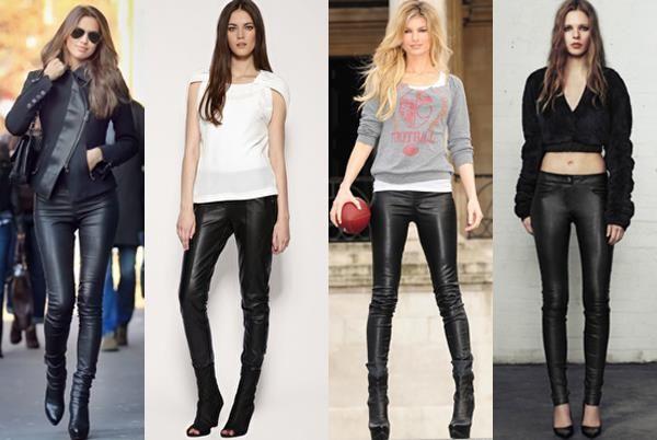 Женские кожаные брюки как ухаживать