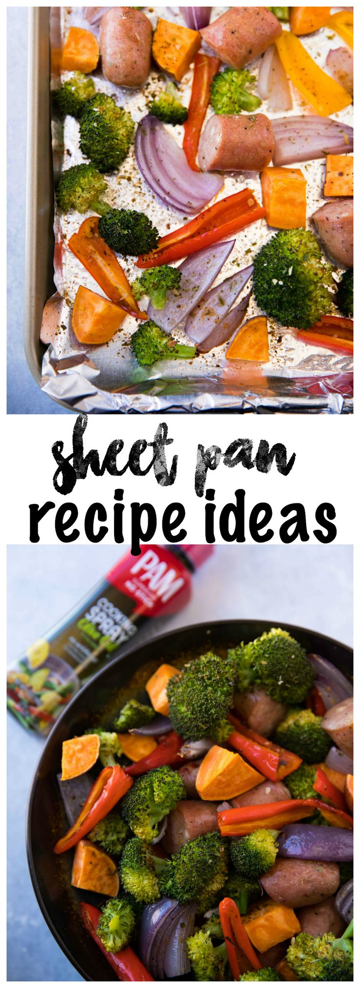 These Best EVER Sheet Pan Recipe Ideas are easy, fast, made in just one pan and the choices are endless. These recipe ideas also make for the perfect meal prep options and/or weeknight dinners! AD #YouPAMDoIt #PAMInControl https://www.kimscravings.com/best-sheet-pan-recipe-ideas/
