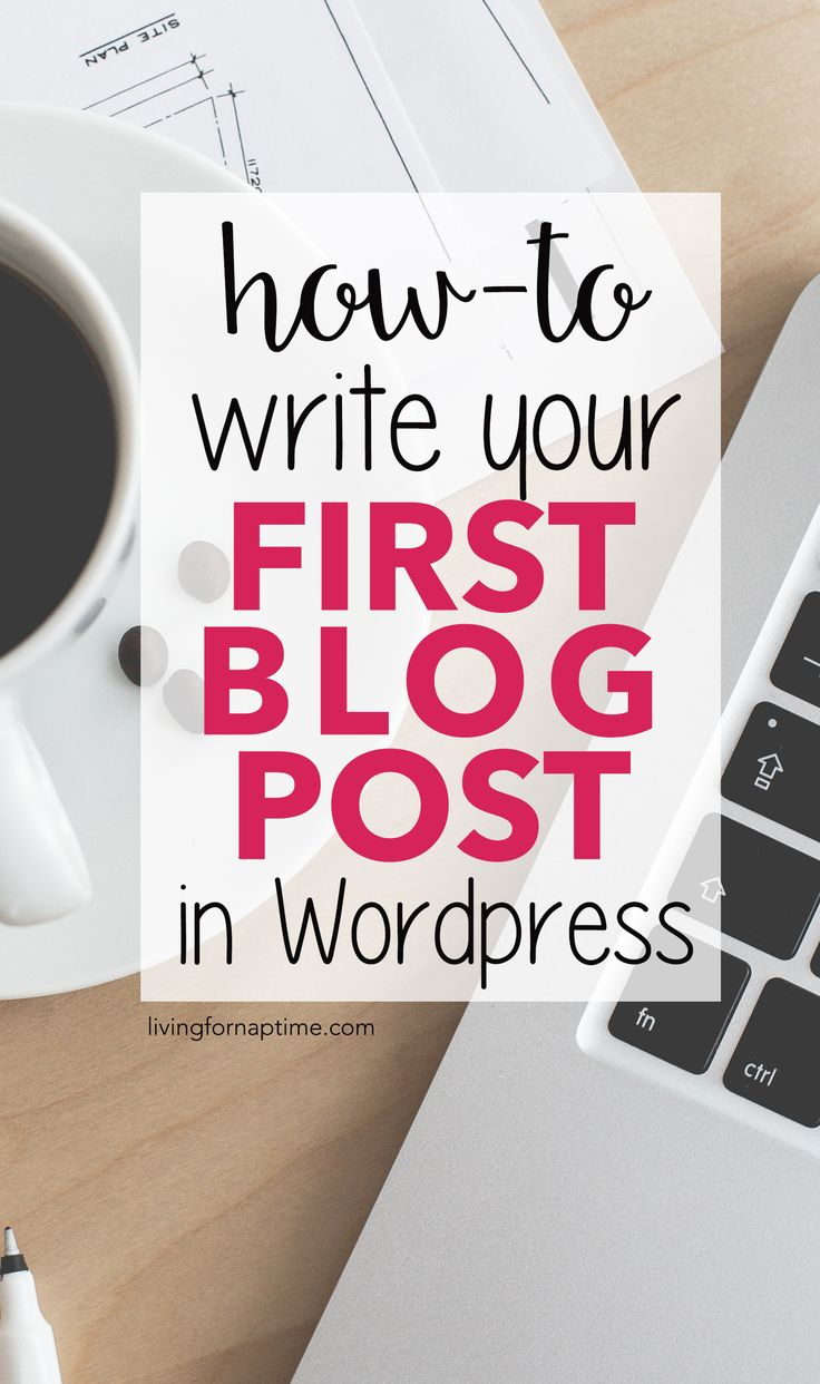 Now that you've got your Wordpress blog all set up, it's time to start writing! While I can't necessarily tell you WHAT to write about in your blog, I CAN tell you the steps you need to take to write your first blog post in Wordpress!