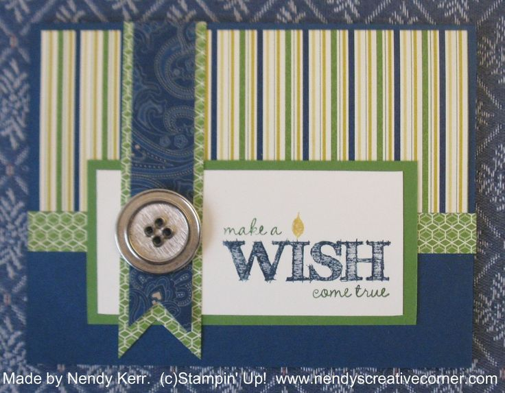 Card Making Ideas For Men Part - 39: Make A Wish Manly Birthday Card