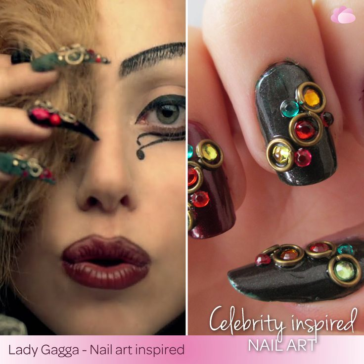 Lady Gagga has inspired us in so many ways. Here is just another way how she inspires us. ‪#‎NailArt‬ ‪#‎WCW‬