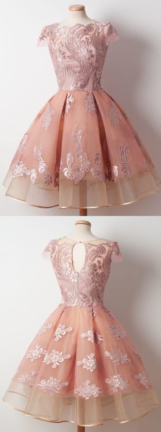 2017 homecoming dresses,short homecoming dresses,pink homecoming dresses,lace homecoming dresses