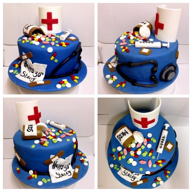 Nurse Theme 30th Birthday Cake Birthday Themes