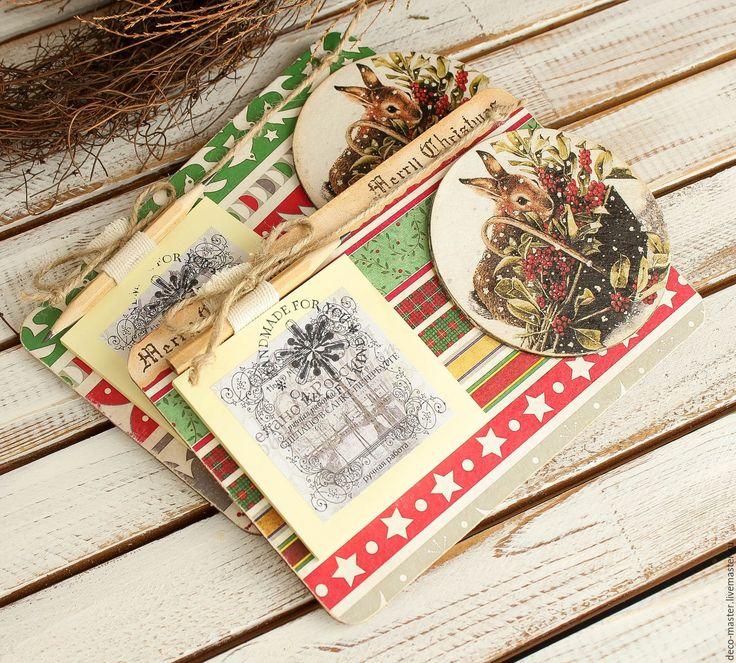 Купить магнит новогодний ЗАЙКА С ЯГОДАМИ - сувениры и подарки, Сувенир ручной работы