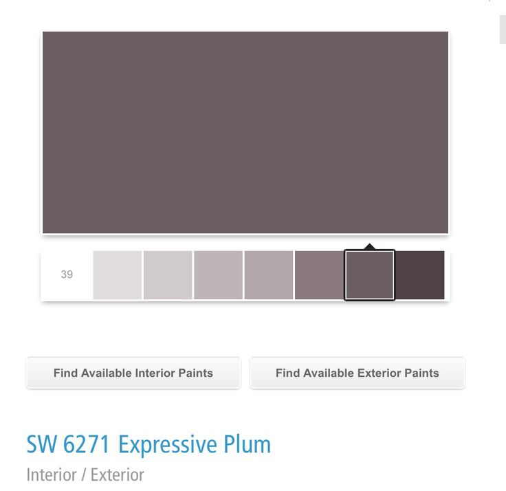 Bedroom Color Sherwin Williams Sw 6271 Expressive Plum