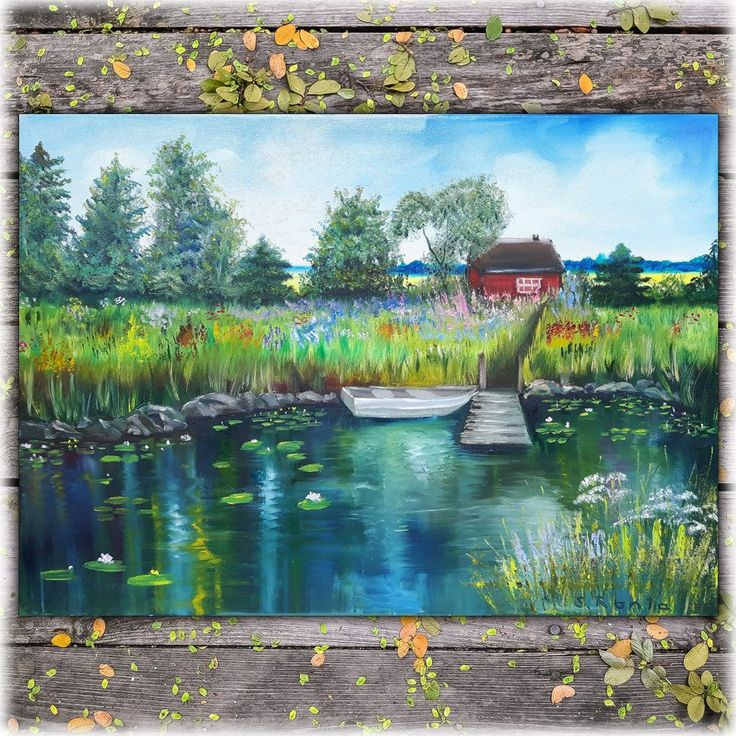 """Oil Painting """"Cottage"""""""