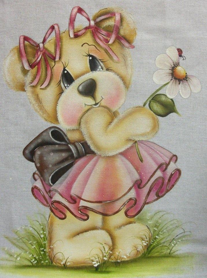 ursinha com flor