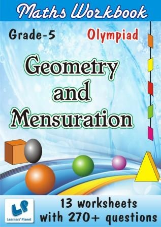 math question and answers of grade 5 for geometry and mensuration for olympiad students