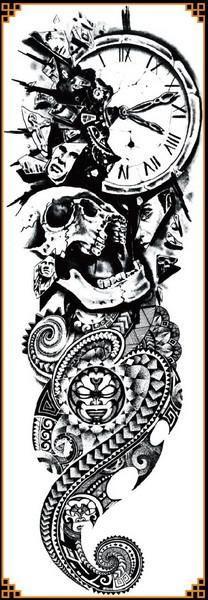 Full Arm Tattoo Stickers - Temporary Tattoos - 17 Models