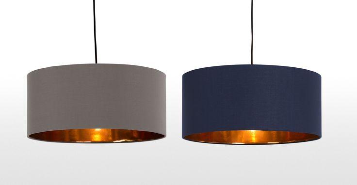 Hue Pendant Shade, Grey & Copper   made.com