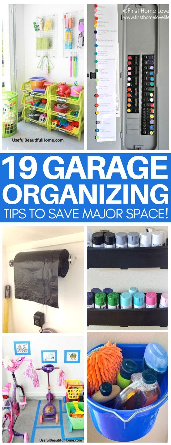 I cannot wait to use these brilliant garage organization tips! Amazing ideas for garage storage on a budget and cheap & easy tips for tool and toy storage that your neighbors will steal