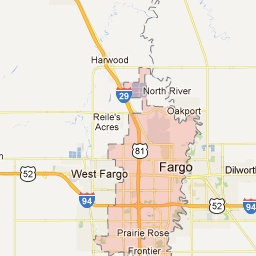 Fargo North Dakota Map