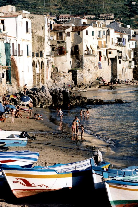Cefalu, Sicily...paddle boarding to this beach
