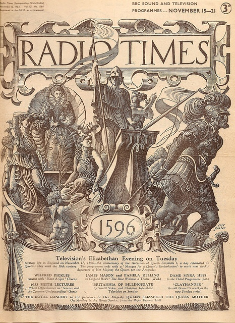 Radio Times cover by Eric Fraser, November 1953