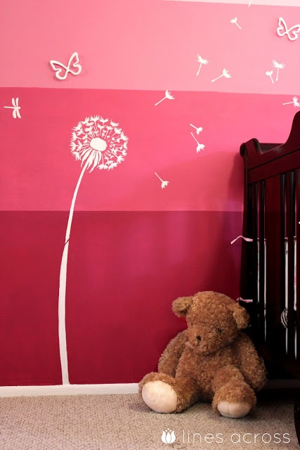 Quot Lines Across Quot How To Paint An Ombre Accent Wall A Girl