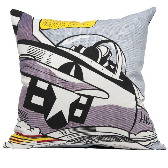 Lichtenstein Whaam! plane cushion cover