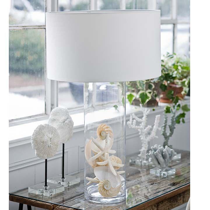 fillable lamp idea beach pinterest lamps glasses. Black Bedroom Furniture Sets. Home Design Ideas