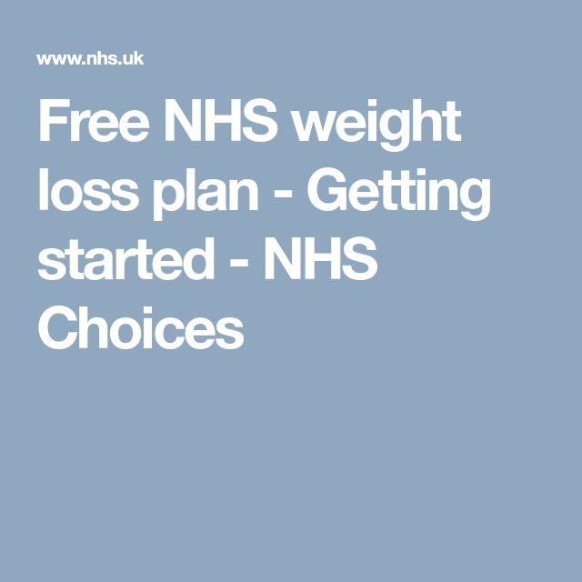 Free NHS weight loss plan - Getting started - NHS Choices