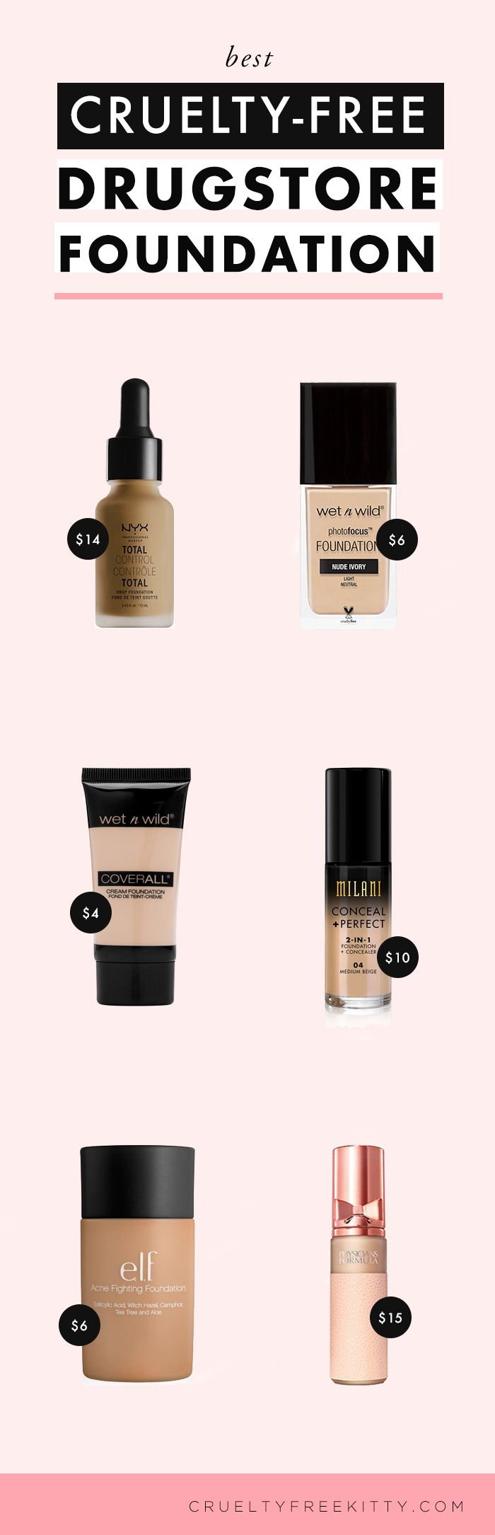 these are the best cruelty free drugstore foundations makeup pinterest diy beaut. Black Bedroom Furniture Sets. Home Design Ideas