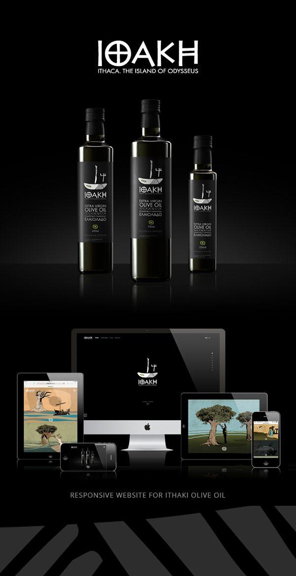 Ithaki Olive Oil | Website on Behance