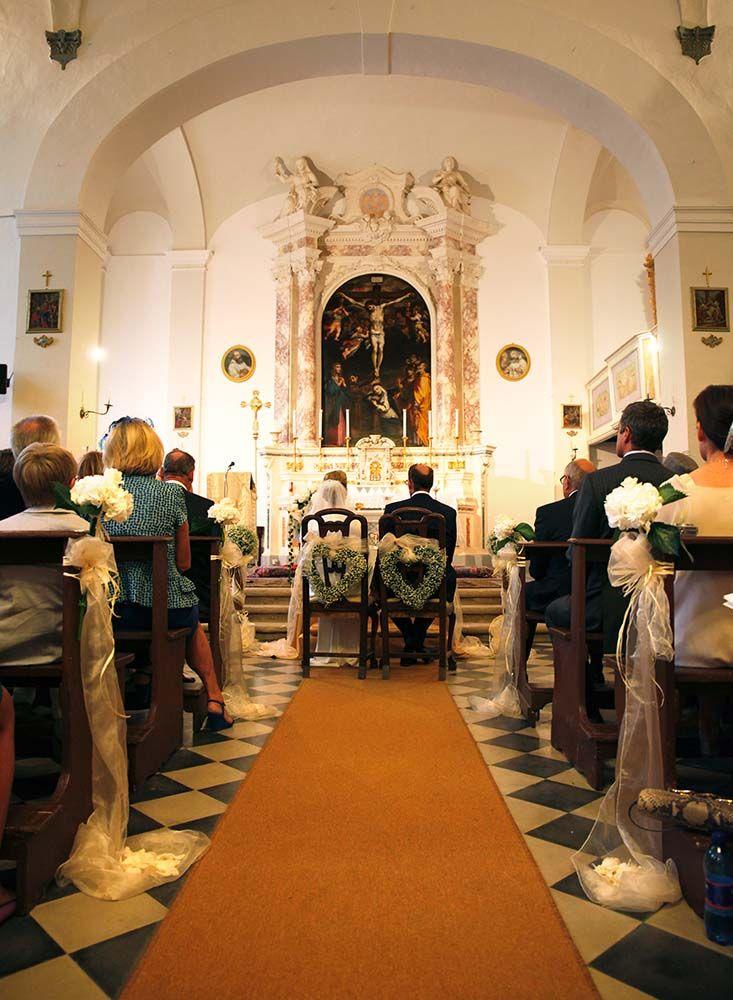Catholic wedding ceremony in Tuscany