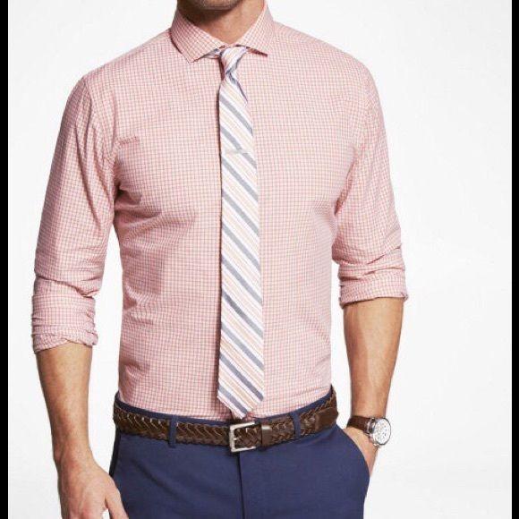 Salmon Chambray Shirt Men Fashion