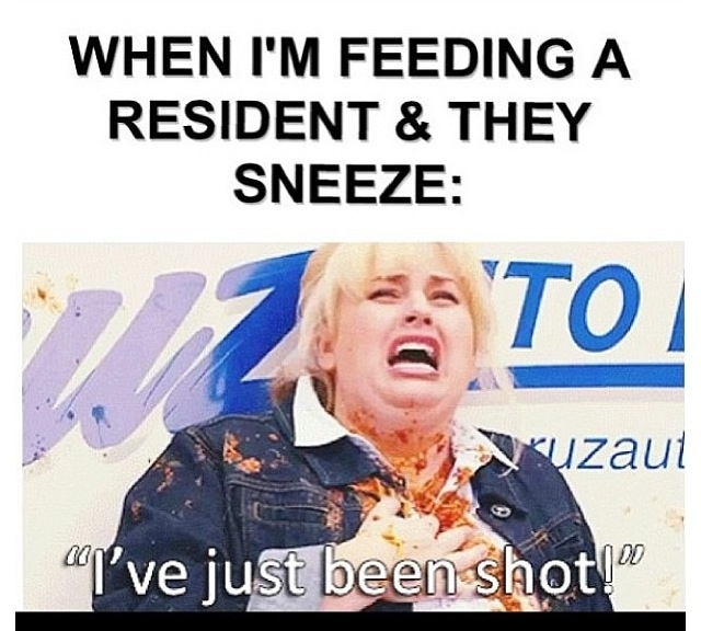 CNA problems... so hilarious and disgusting, but true.  :)