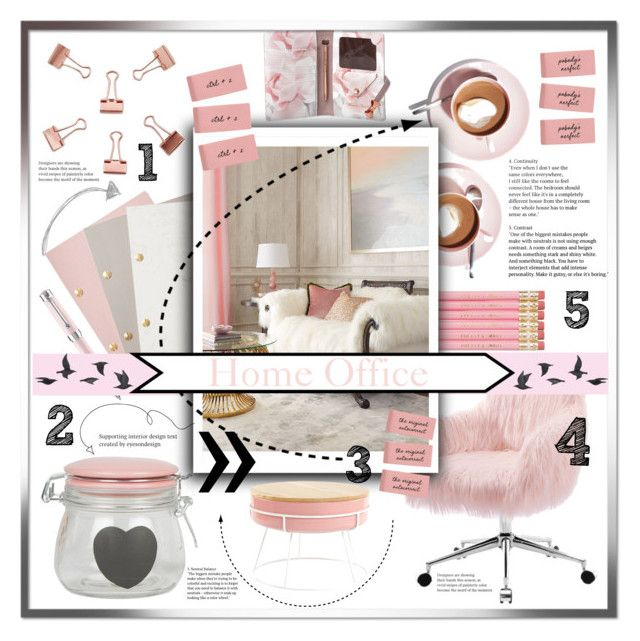 """""""HOME OFFICE"""" by israa-rz ❤ liked on Polyvore featuring interior, interiors, interior design, home, home decor, interior decorating, Ted Baker, Martha Stewart, StudioSarah and Montegrappa"""
