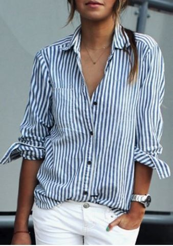 Casual Stripped Shirt at Rosegal - Trendslove