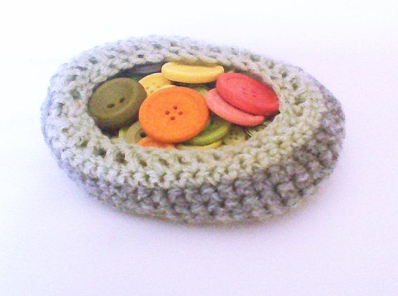 Hey, I found this really awesome Etsy listing at https://www.etsy.com/listing/173818603/crochet-basket-gray-crochet-bowl-home