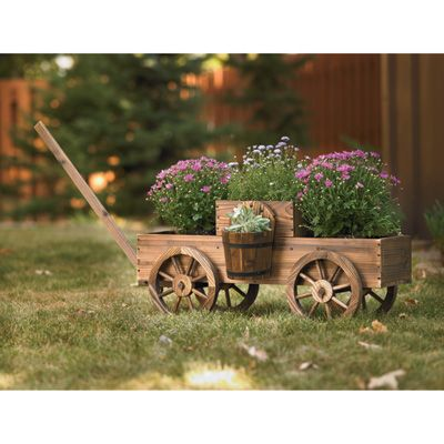 Two-Tiered Wagon Planter, Model# T-15N354MB