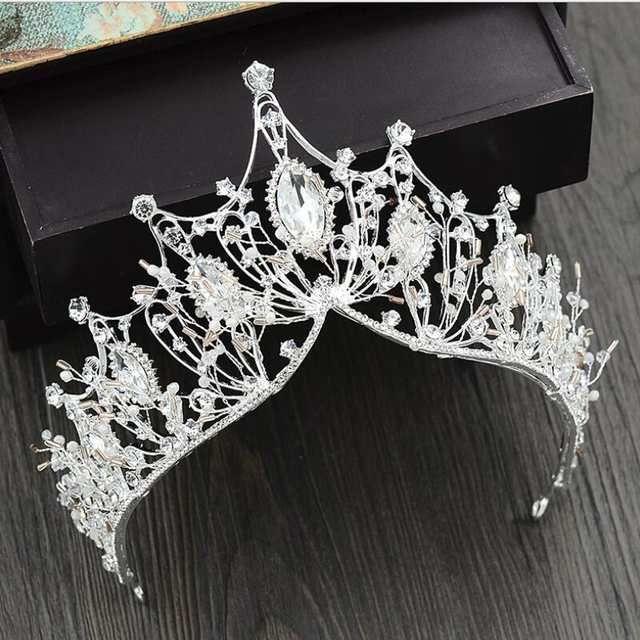 Barock Big Tiaras Luxus Diamant Strass Kronen Kopfschmuck Für Festzug Quin