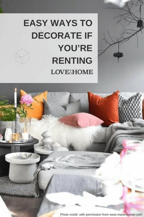 Easy Ways to Decorate if You're Renting