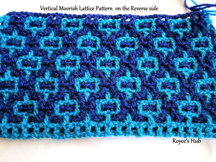 Royce's Hub: Interlocking Crochet : Horizontal and Vertical Moorish Lattice Pattern