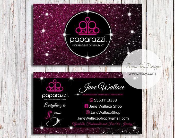 Paparazzi Business Cards Pink Vistaprint Paparazzi Business Etsy Business Marketing Design Square Business Cards Business Card Design