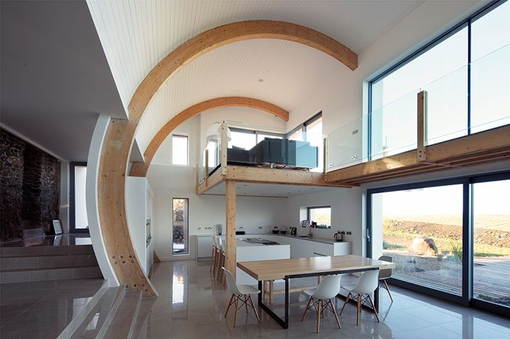 featured on grand designs, 2020 architects conserved and rebuilt on the ruins of the original site to establish a visual barrier for the extension.