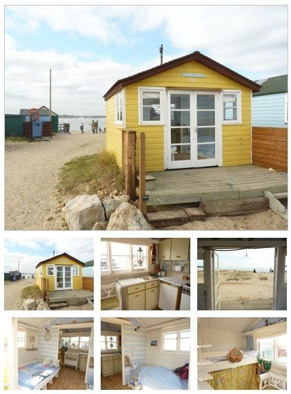 Beach hut in England.