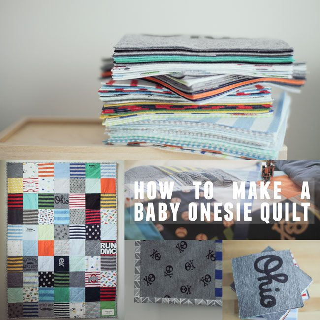 Onsies seem way too early/small/spit covered to me, but I have a lot of personalized tshirts for the boys that could make nice quilts for hanging out--- how-to-make-a-baby-onesie-quilt650