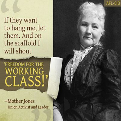 #WorkingClassHeroes An #AmericanDemocraticSocialist, Mary Harris Jones
