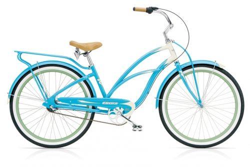 """Denne sykkelen er en hel sommerdag i seg selv.Tenk deg at du sykler ved havet med piknikk-kurv på styret. Du har satt mobilen på """"stille"""" og tiden er din. Denne har 3 gir som vil gi deg muligheter, men sommå leies i hånden om du har tenkt deg opp Gallhøgpiggen.Vi er ikke i tvil om at du finner din stil med denne sykkelen.  Den turkis-blå fargen er ikke til å ta feil av. Den er frisk og med detaljer i hvitt og en grønn l..."""