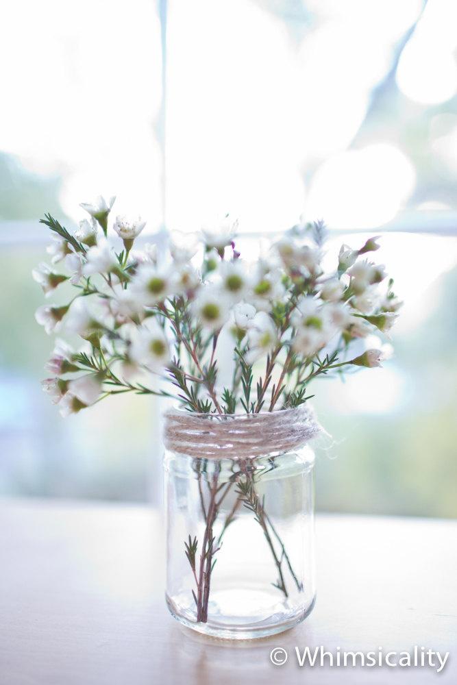 24 new glass jars - White metal lids - 9.7cm tall - DIY wedding favours / Bomboniere / Bonbonniere. $38.00, via Etsy.