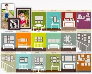 65 plus Photo Gallery Wall Layout Ideas - Setting for Four