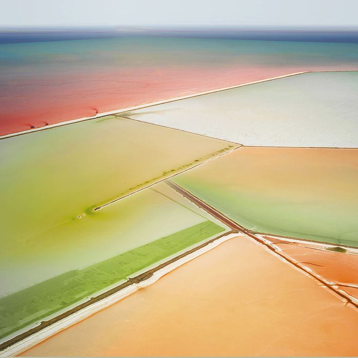 Aerial Images of Salterns That Blur the Line Between Photograph and Painting by David Burdeny | Colossal