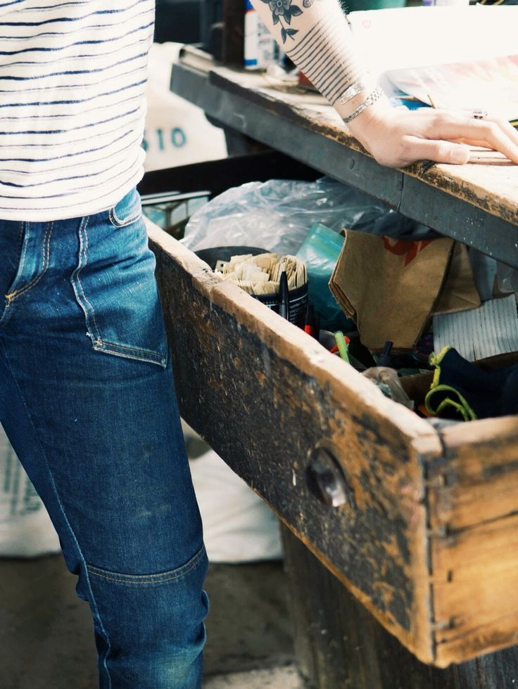 """Lady workwear. Hell yes.  """"Our slim slouch dungaree is based on an idea not found in most workwear companies: there is no 'one-size fits all' pant.  In close collaboration with a star pattern maker at a storied denim company, we are excited to thoughtfully and slowly expand our collection of dungarees to accommodate a wide variety of body types."""""""