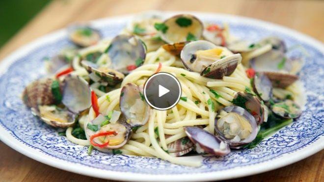 Spaghetti vongole - recept | 24Kitchen